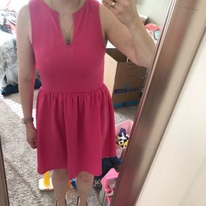 Hot Pink fit and flare dress